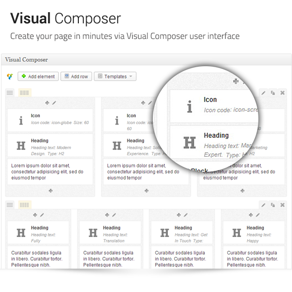 Archtek: Visual Composer - Create your page in minutes via Visual Composer user interface
